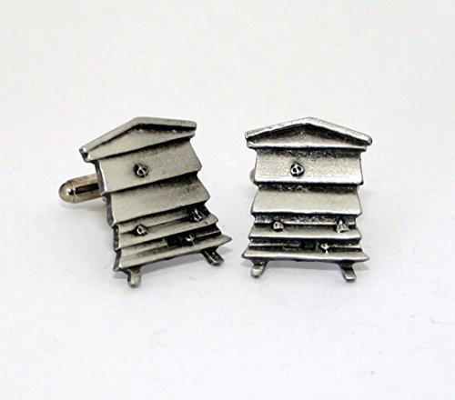 Boutons De Manchette Bee hive Hoardersworld, en étain anglais fait à la main en forme d'abeille, vos H)