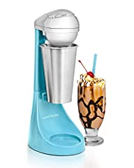 RETRO DRINK MAKER: Both fun and easy to use, it brings the old time ice cream parlor right the kitchen - perfect for making milkshakes, malted milks, soda fountain drinks and even health drinks! POWERFUL MIXER: Equipped with a 100-watt motor, this 2-...