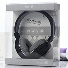 Gadgetssts SH 12 Wireless Bluetooth Headphone With FM SD Card Slot With Music And Calling Control Black