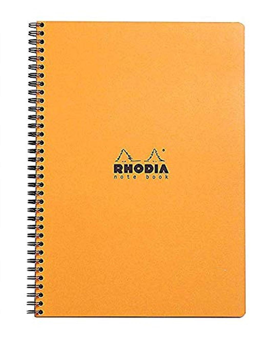 オレンジ色色Exaclair Rhodiaグラフノートブック 9X11