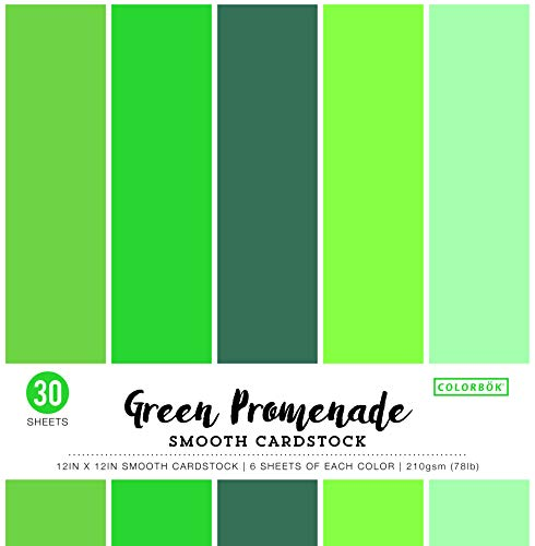 ColorBok 73477B Smooth Cardstock Paper Pad Green Promenade, 12