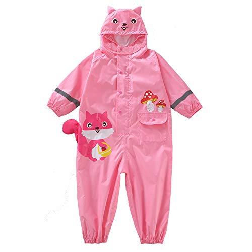 GFFTYX Veste de Pluie - Costume Pluie Petits avec Enfants Capot étanche Salopette Baby One Piece Rainsuit extérieur 1-7 Ans Pluie Porter (Color : #01, Size : S)