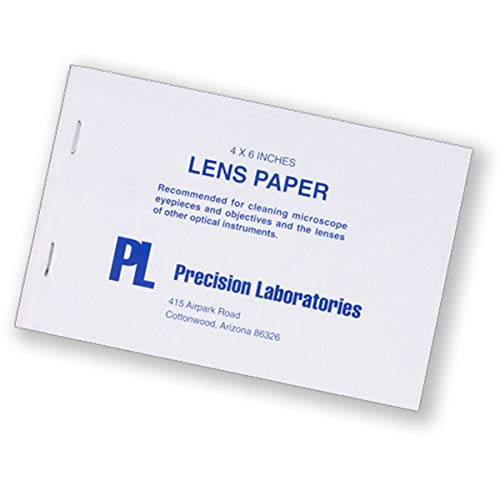 VWR 52846-001 Lens Cleaning Tissue, 10.1 cm Width, 15.2 cm Length (Pack of 12)