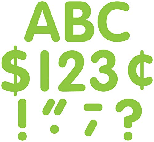 Teacher Created Resources Lime Classic Font 4-Inch Letters Uppercase Pack (5383)