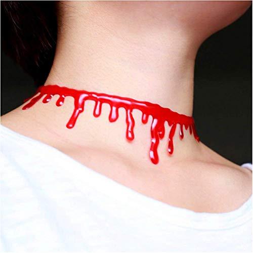 Cathercing Halloween Party Rood Bloed Drop Choker Ketting voor Vrouwen Mannen Kinderen Camouflage Vampier Kostuum Dress Up Accessoires