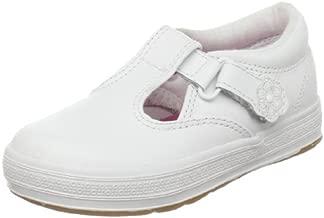 Keds girls Daphne mary jane flats, White, 10 Wide Toddler US