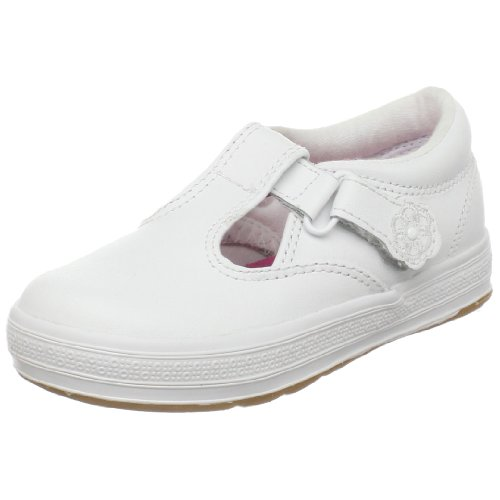 Keds girls Daphne mary jane flats, White, 5 Wide Toddler US