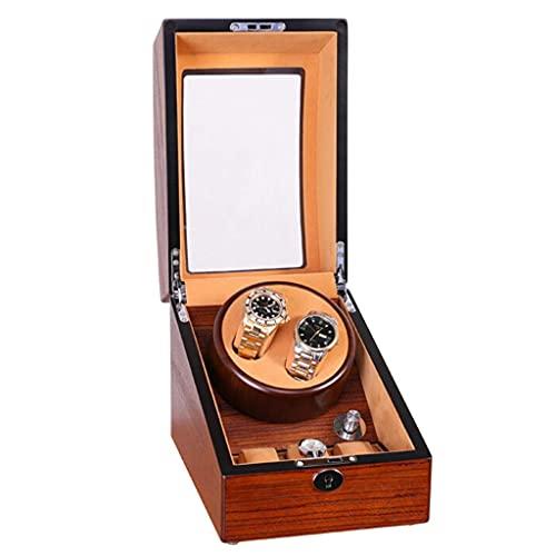 CCAN Enrollador de Reloj, Caja de Motor eléctrico Ultra silencioso 2 + 3 Cajas de Relojes de Cuerda mecánica Cajas Decorativas de exhibición giratoria automática de Regalo
