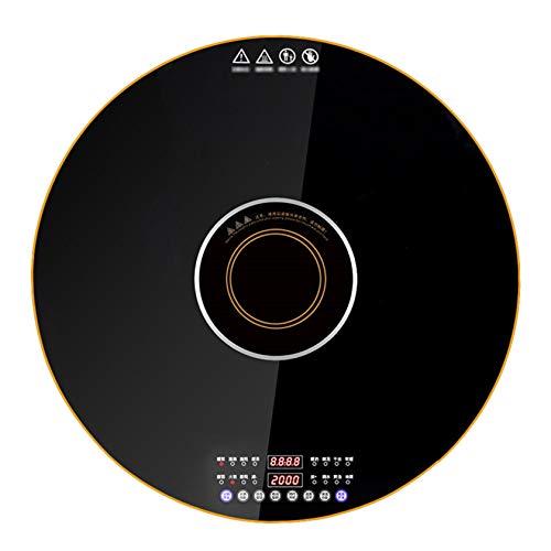 BLLXMX 300-W-Glas-Kochplatte Speisenwärmefach Buffet-Wärmer Server-Kochplatte, 40-135-Grad-Temperatureinstellung, 360-Grad-Drehung
