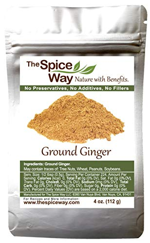 The Spice Way Ground Ginger - 4 oz resealable bag