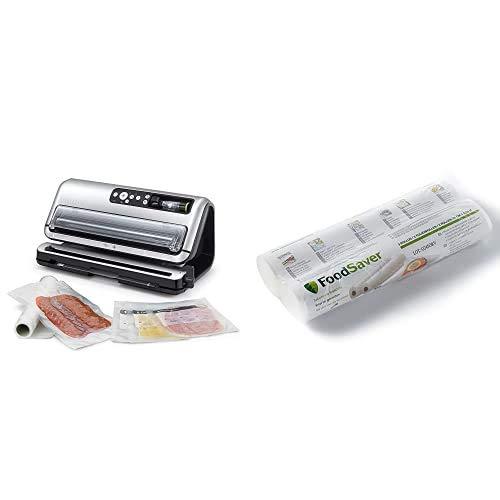 FoodSaver FFS006X Folienschweißgerät / Vakuumierer / Vakuumiergerät + Vakuum-Rollen 2 Stück 28x550 cm/Folienrollen für Lebensmittel/Vakuumierer/Sous-Vide