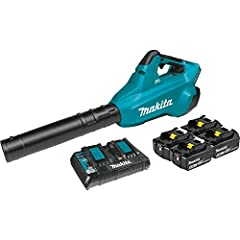 Delivers up to 28 minutes of run time at mid speed (15, 800 RPM) using two 18V LXT 5.0Ah batteries BL Brushless motor delivers up to 120 mph air velocity and 473 CFM of air volume Sound pressure rating of 61 dba); measured per ANSI B 175.2 standard. ...