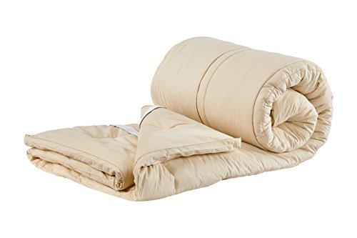 Sleep & Beyond 76 by 80-Inch Organic Merino Wool Mattress Topper, King, Ivory