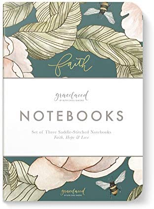 GraceLaced Lined Notebooks Set of 3 Faith Hope Love product image
