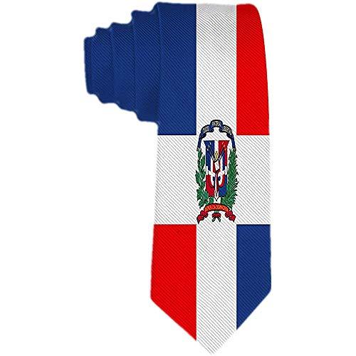Herren Krawatte Dominikanische Republik Flagge Polyester Seidenkrawatte