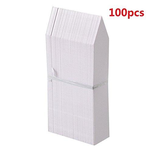 100 piezas de marcadores de etiquetas de plantas blancas,