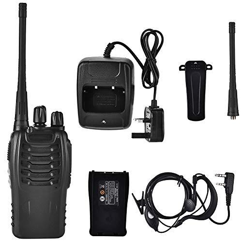 Interphone, Walkie Talkie inalámbrico portátil con linterna LED de(British regulations (110-240V))