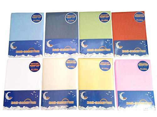 Premium Baby Biber/Teddy-Flausch Spannbettlaken für's Kinderbett, 70x140 cm, weiß
