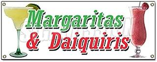 Margarita & DAIQUIRIS Banner Sign Frozen Drinks bar Banana Strawberry