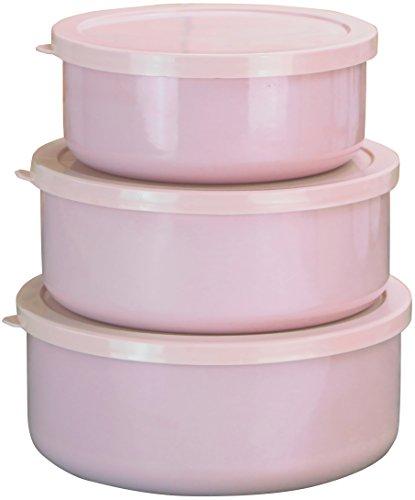 Calypso Basics von Reston Macan Lloyd 6Emaille auf Stahl Schüssel/Storage Set, Pink
