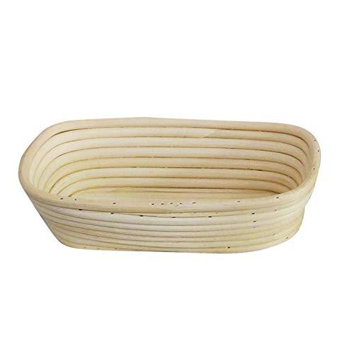 TaoHaoHuo 1 cesta de mimbre natural para el pan