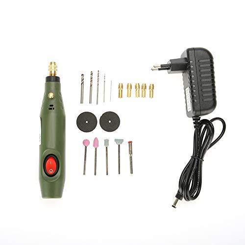 Mini taladro, conjunto de mini taladro Juego de amoladora de taladro Pulido eléctrico Taladro Herramienta de pulido (220V)