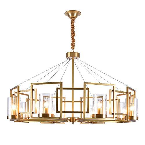 Lámpara colgante de salón minimalista lámpara de cobre americano lámpara de diseño