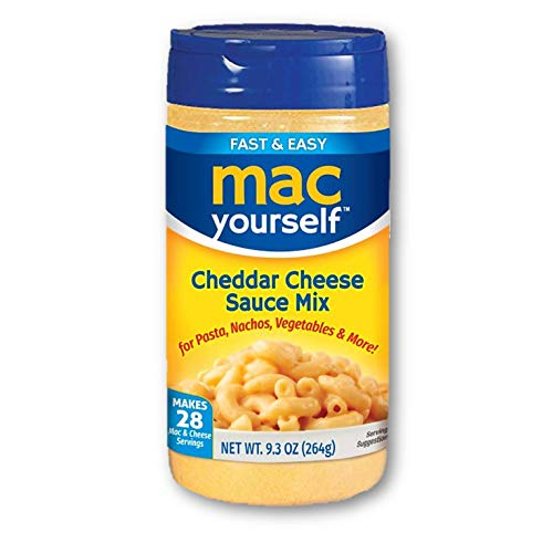 Mac Yourself   Delicious Cheddar Cheese Sauce Mix   Perfect Cheese Powder for Macaroni, Nachos,...