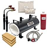MrVolcano Dual Magma - Double Burner Portable Propane Forge (Complete Kit) Large Capacity for Professionals Artists Hobbyists Knife Making Tool Making Farrier Blacksmith