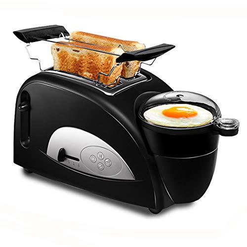 Toaster Mit Eierkocher 1200 (W), Toaster 3 In 1, Mit Backzutaten, Gekochten Eiern Und Omeletts, Temperaturregelung Mit 5 Gangstellungen, 35 * 16 * 21 Cm,Black