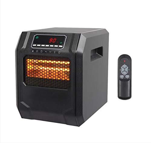 Calentador 1500w, inteligente ahorro de energía y ahorro de la electricidad 4 cuarzo tubos de calefacción, 34,5 × 29 × 38,5 cm Digital Display constante caliente del ventilador Negro ( Color : Black )