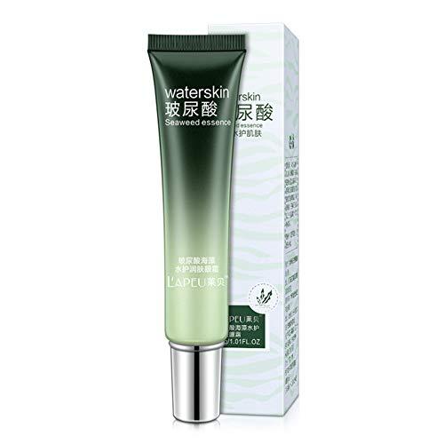 Luckine Crème pour les yeux à l'acide hyaluronique hydratant Supprimer les cernes Sacs pour les yeux Crème de soin pour les yeux aux algues