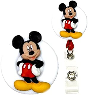 Mouse Character Real Charming Retractable Swivel Alligator ID Badge Holder Badge Reel (Mick SA)