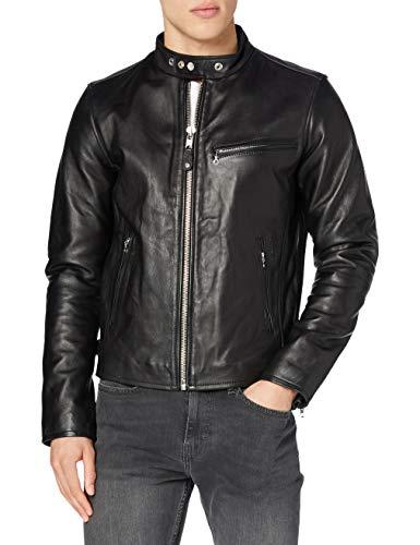 Schott - blouson - en cuir - homme - noir (black) - l