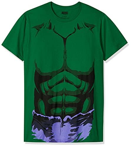 Marvel Men's Hulk Purple Short Sleeve T-Shirt, Kelly Green, Medium