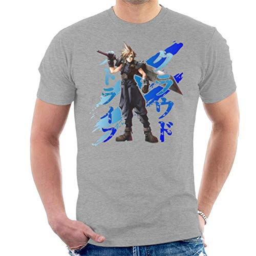 Cloud Strife Blue Ink Final Fantasy VII Men's T-Shirt