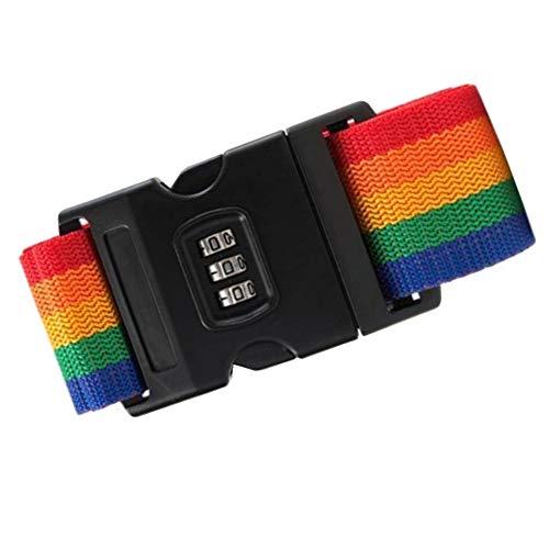 Raybre Art Diebstahlsicherer Packgurt Sicherheitsseil-Reisekoffer Secure-Lock Einstellbar