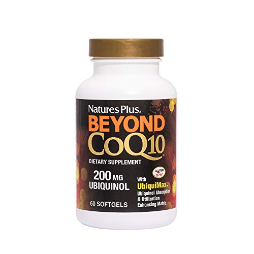 NaturesPlus Beyond CoQ10-200 mg Ubiquinol, Easy to Swallow Softgels - High Potency, High Absorption Supplement, Antioxidant (60)