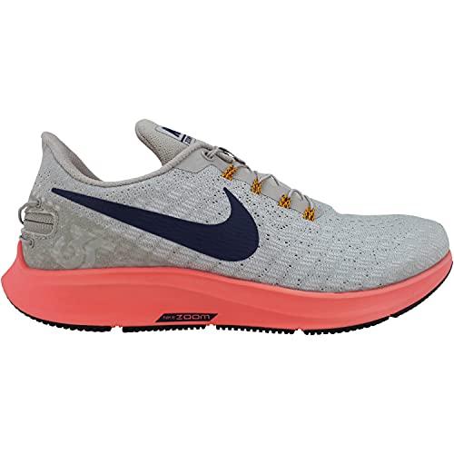 Nike Men's Air Zoom Pegasus 35 Flyease Moon Particle/Flash Crimson/Blackened Blue Sneakers 8