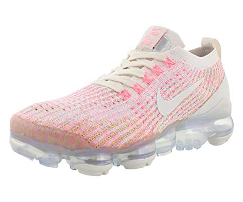 Nike Women's Air Vapormax Flyknit 3 Running Shoe (6.5, Phantom/Phantom-Sunset Pulse)