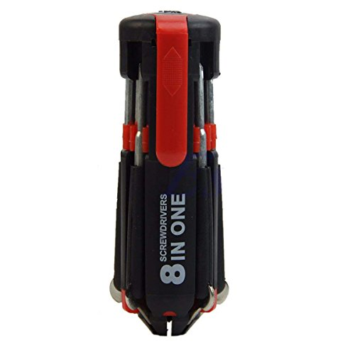 QuiCi 8 in 1 Multi cacciavite portatile strumenti manuali set con 6 LED torcia torcia torcia torcia flash lampada