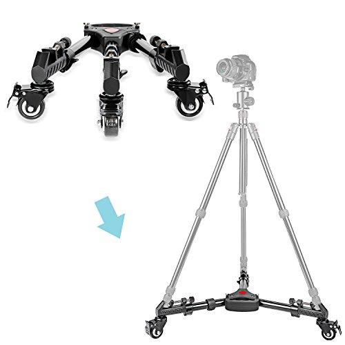Neewerプロフェッショナルアルミ合金400mm/15.7インチ拡張調節可能三脚ドリーゴム車輪有り一眼レフカメラカムコーダー撮影写真映画フィルムビデオ製作に対応