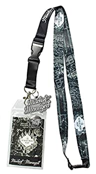Harry Potter Mischief Managed Marauders Map ID Lanyard Badge Holder with 2  Rubber Charm Pendant and Collectible Sticker