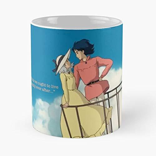 5TheWay Howls Sophie Moving Ghibli Calcifer Miyasaki Castle Studio - Best 11 oz Kaffeebecher - Nespresso Tassen Kaffee Motive