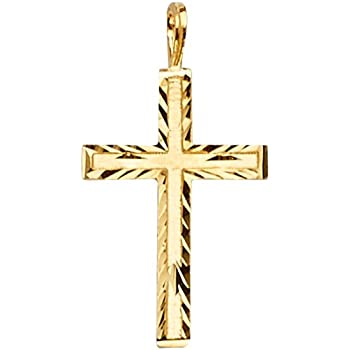 Million Charms 14k Yellow Gold Religious Bible Book In English 14mm x 12mm