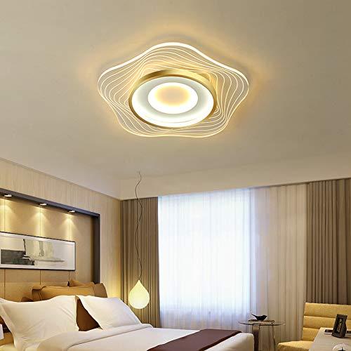 QLIGHA Lámpara de Techo para habitación de niños Moderna Ultrafina en Forma de Estrella Hierro Forjado Acrílico Transparente Luz de Techo LED para Dormitorio, Cocina Iluminación Regulable