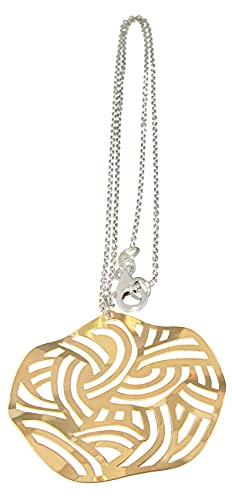 Cadena de plata 925, colgante de oro, cadena de plata, collar para mujer, oro macizo, Hobra