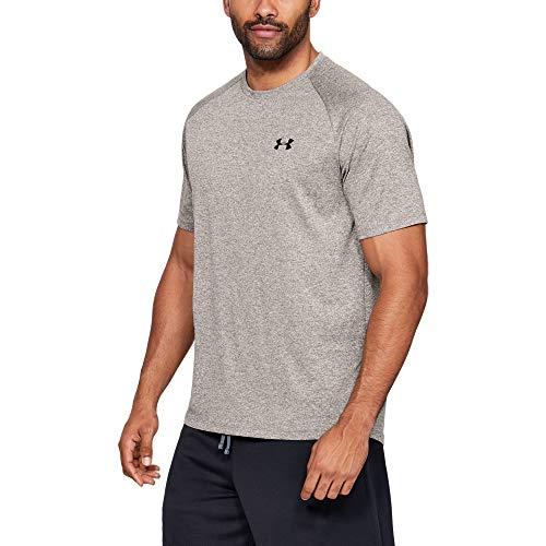Under Armour Men's Tech 2.0 Short Sleeve T-Shirt, Silt Brown Light Heather (221)/Black, 3X-Large Tall