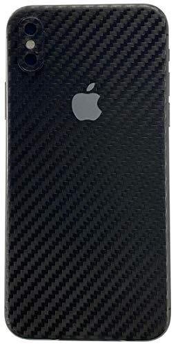 TKCase iPhone XS Max Skin Rückseite Schutzfolie Kratzschutz (Carbon Schwarz)
