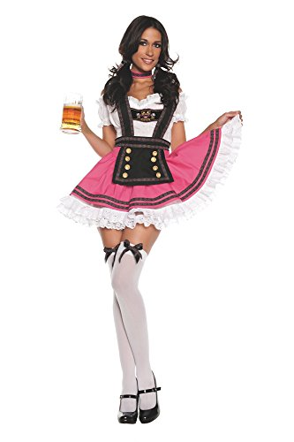 Starline Women's Fancy Beer Girl Costume Dress Set - pink - Larg